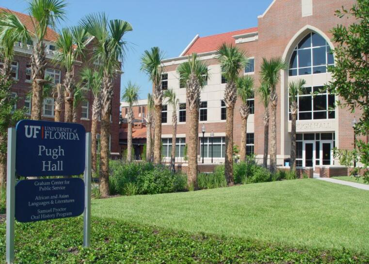 One of the buildings on the University of Florida campus