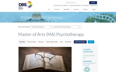 Masters In Psychotherapy - Dublin Business School